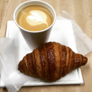 Enjoy a Cappuccino and croissant at Boulangerie