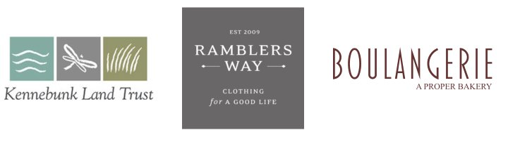 Sponsored by The Kennebunk Land Trust, Boulangerie: A Proper Bakery, & Ramblers Way Clothing