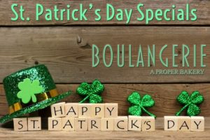 St. Patrick's Day Bakery Specials