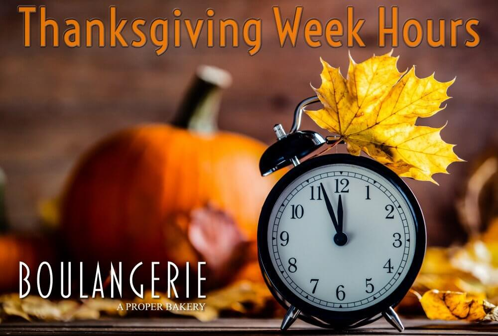 Kennebunk Maine Bakery Thanksgiving Week Hours